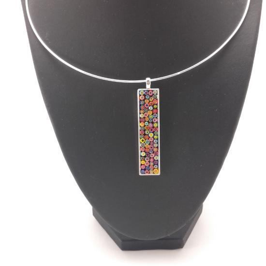 pendentif multicolore en Millefiori